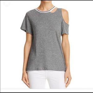 LNA Revolve Cut out Crew Neck Tee T-Shirt XS